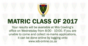 Results Matric Class of 2017