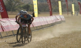 Waldi Kuhn lying 4th overall in the National MTN Mountain Biking Series